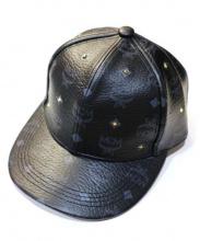 MCM(エムシーエム)の古着「レザーキャップ」|ブラック