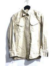 REMI RELIEF(レミレリーフ)の古着「ミリタリーシャツ」 ベージュ