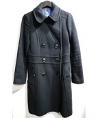 BURBERRY BLUE LABEL(バーバリーブルーレーベル)の古着「アンゴラカシミヤ混ウールコート」|ブラック