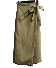 LAVENTURE martinique(ラヴァチュール マルティニーク)の古着「ラップスカート」|ベージュ