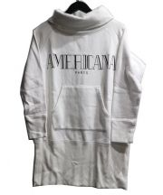 Americana(アメリカーナ)の古着「ハイネックスウェット」|ホワイト