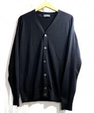 JOHN SMEDLEY(ジョン スメドレー)の古着「ニットカーディガン」|ブラック