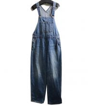 X-GIRL(エックスガール)の古着「WIDE TAPERED OVERALL」|ブルー