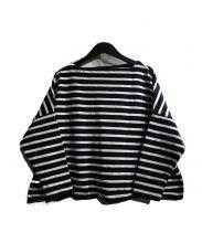 Traditional Weatherwear(トラディショナルウェザーウェア)の古着「ビッグマリンボートネックシャツ」|ブラック