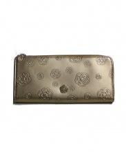 CLATHAS(クレイサス)の古着「アルゴランダム カメリアLファスナー財布」|ゴールド