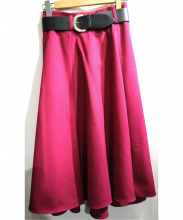 Mystrada(マイストラーダ)の古着「ベルト付スカート」|ピンク