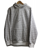 have a good time(ハブアグッドタイム)の古着「LOGO ALLOVER PULLOVER HOODIE」|ホワイト