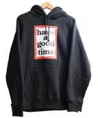 have a good time(ハブアグッドタイム)の古着「プルオーバーパーカー」|ブラック
