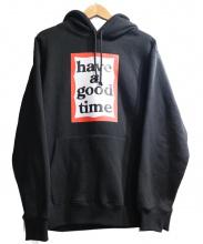 have a good time(ハブアグッドタイム)の古着「プルオーバーパーカー」 ブラック