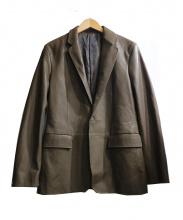 ck Calvin Klein(シーケーカルバンクライン)の古着「ラムレザーテーラード」 オリーブ