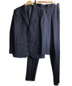 COMME CA ISM(コムサイズム)の古着「ドビーハニカムストライプスーツ」|ネイビー