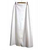 CHANEL(シャネル)の古着「スリットスカート」|ホワイト