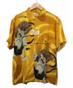 SUN SURF(サンサーフ)の古着「アロハシャツ」|ブラウン