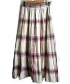 heliopole(エリオポール)の古着「ビッグチェックタイプライターマキシスカート」
