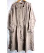 ROSSO(ロッソ)の古着「スウェードサテン切替ワンピース」