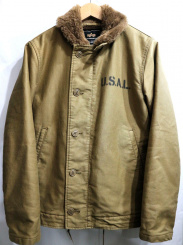 ALPHA(アルファ)の古着「N-1デッキジャケット」