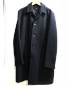 STUDIOUS(ステュディオス)の古着「カシミヤ混ステンカラーコート」|ブラック