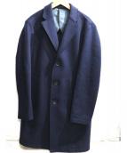 EDIFICE(エディフィス)の古着「圧縮WOOL JERSEYカットオフチェスター」|ネイビー
