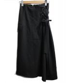 FRAY ID(フレイアイディー)の古着「アシメレースアップスカート」