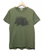 Engineered Garments(エンジニアードガーメンツ)の古着「Printed Cross Crew Neck T-shir」 カーキ