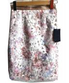 JUSGLITTY(ジャスグリッティー)の古着「レースプリントタイトスカート」
