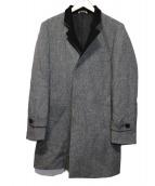 renoma HOMME(レノマオム)の古着「カシミヤアンゴラ混変形チェスターコート」|グレー