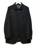 COMME CA MEN(コムサメン)の古着「ウールメルトンジャケットコート」|ブラック