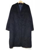 ROSSO(ロッソ)の古着「ノーカラーコート」|ネイビー