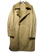 MORGAN HOMME(モルガンオム)の古着「オーバーコート」|ベージュ