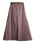 BACCA(バッカ)の古着「コットンツイルフレアマキシスカート」|ピンク