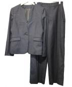 ANCHOR WOMAN PERSONS(アンカーウーマンパーソンズ)の古着「Vカラージャケットセットアップスーツ」|グレー