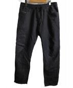 DIESEL(ディーゼル)の古着「綿麻ジョグパンツ」|ブラック
