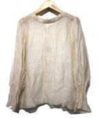 Noble(ノーブル)の古着「袖ギャザーシアーブラウス」