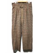 NEAT(ニート)の古着「Wool Gun Club Check Pants」|ブラウン