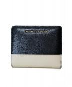 MARC JACOBS(マークジェイコブス)の古着「バイカラー二つ折り財布」|ブラック
