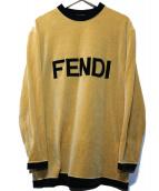 FENDI(フェンディ)の古着「ベロアロゴカットソー」