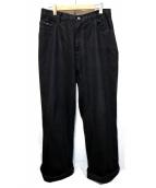 gourmet jeans.(グルメジーンズ)の古着「BAGGY TYPE-1」|ブラック