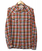 REMI RELIEF(レミレリーフ)の古着「スTSッズチェックシャツ」|レッド