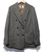 H.STANDARD(アッシュ スタンダード)の古着「フレンチウールヘリンボーンジャケット」 グレー