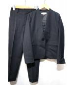 BEAUTY&YOUTH(ビューティアンドユース)の古着「ピケカラーレスジャケット・9分丈パンツセット」|ネイビー