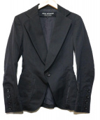 JUNYA WATANABE COMME des GARCONS(ジュンヤワタナベ コムデギャルソン)の古着「ギャバウールジャケット」|ブラック