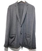 BURBERRY BLACK LABEL(バーバリーブラックレーベル)の古着「羊毛ジャージージャケット」|グレー