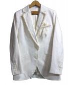 JOHN GALLIANO(ジョンガリアーノ)の古着「フリンジジャケット」|ホワイト