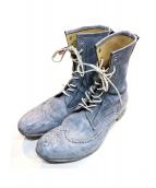 foot the coacher(フットザコーチャー)の古着「ブーツ」|ライトグレー