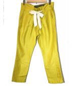 Americana(アメリカーナ)の古着「カラージョッキーパンツ」|イエロー