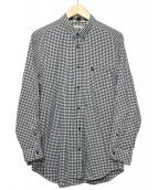 BURBERRY BRIT(バーバリーブリット)の古着「ギンガムチェックシャツ」|ブラック