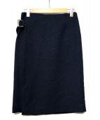 Spick and Span(スピック アンド スパン)の古着「サイドベルトスカート」|ネイビー