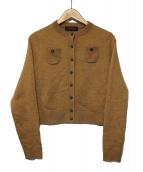 CABAN(キャバン)の古着「ウールカシミヤクルーカーディガン」|ブラウン