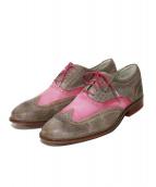 COLE HAAN(コールハーン)の古着「ウィングチップシューズ」|ピンク×ブラウン