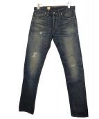 RRL(ダブルアールエル)の古着「加工デニムパンツ」|インディゴ